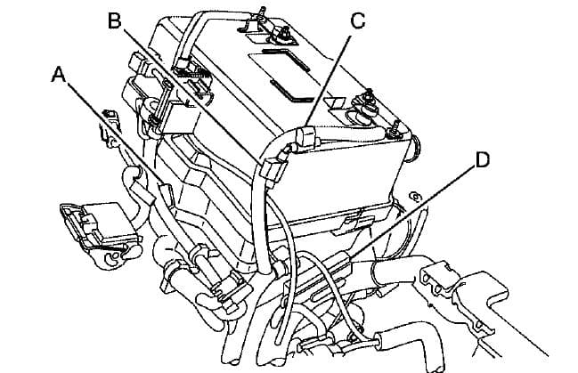 GMC Canyon mk1 - fuse box - engine compartment (engine 2.9L and 3.7L)