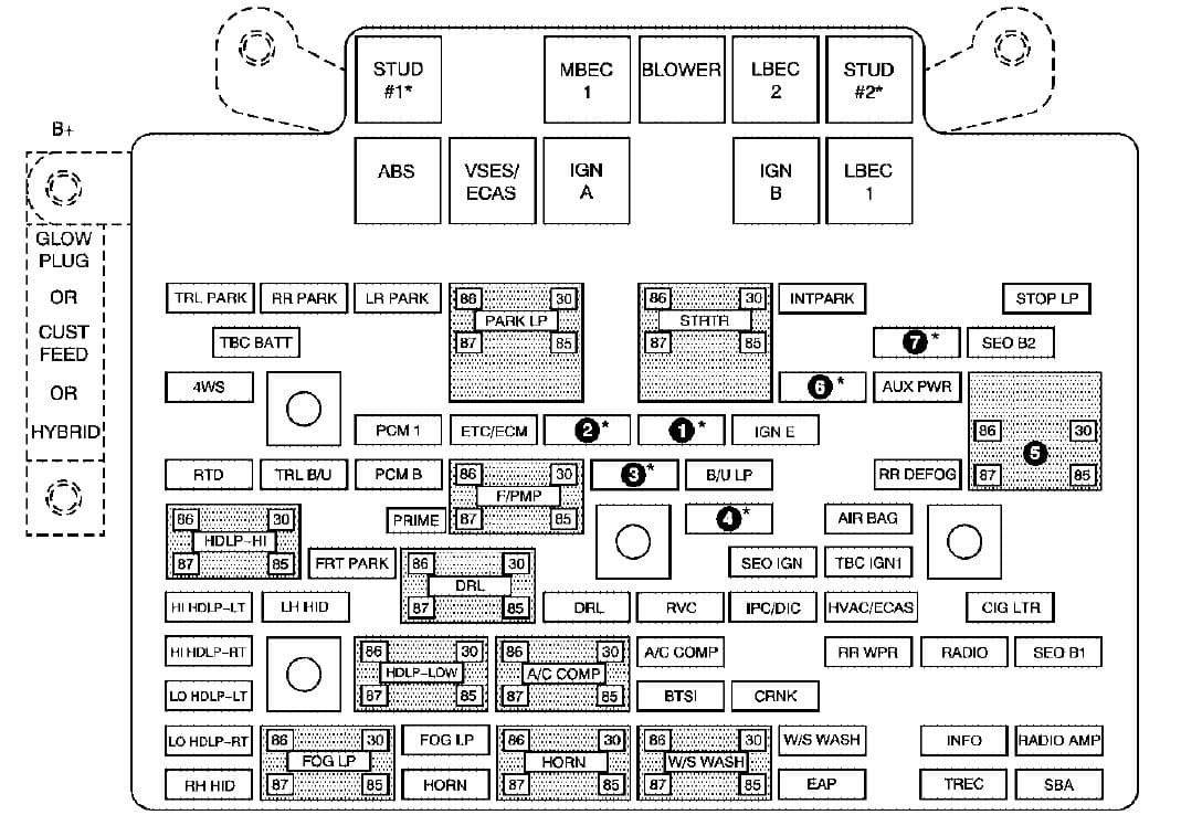 GMC Sierra mk1 - fuse box - engine compartment