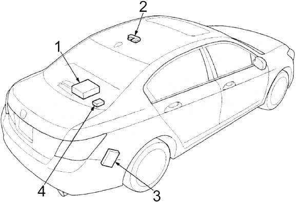 Honda Accord - fuse box diagram