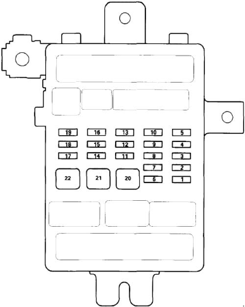 Honda Accord - fuse box diagram - passenger compartment fuse box no. 2