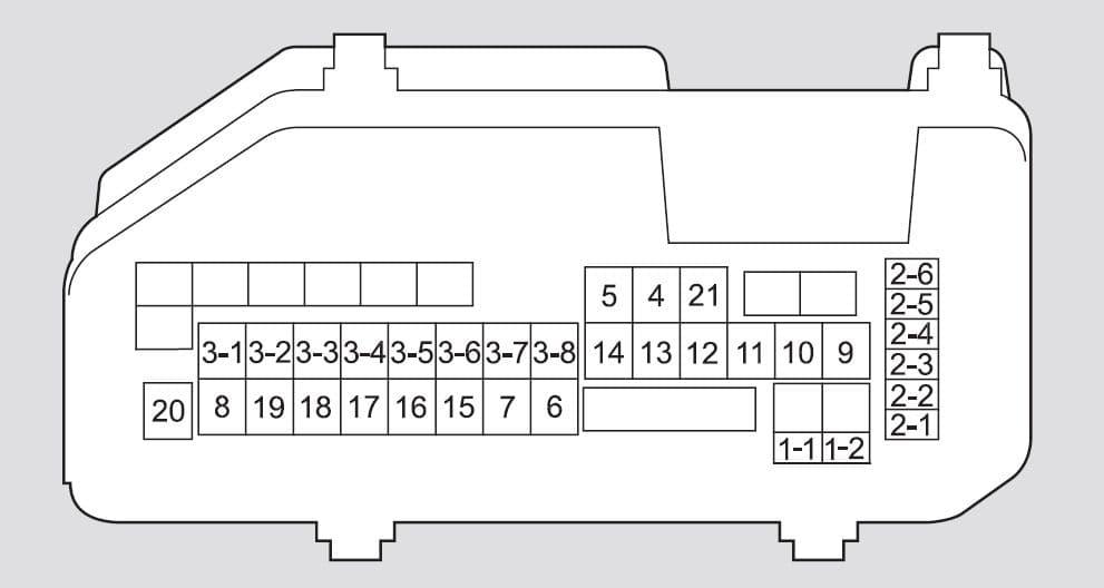 Honda Accord - fuse box - engine compartment