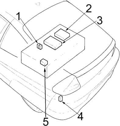 Honda Insight - fuse box diagram - engine compartment