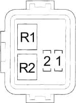 Honda Insight - fuse box diagram - engine compartment relay box no. 1