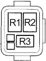 Honda Insight - fuse box diagram - engine compartment relay box no. 2