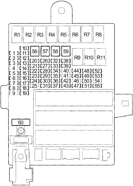 Honda Insight - fuse box diagram - pasenger compartment fuse box