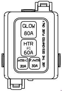 Hyundai Accent IC - fuse box diagram - fusebile link box diesiel
