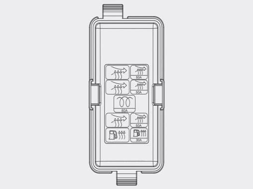 Hyundai Grand Santa Fe - fuse box - engine compartment (diesel engine)