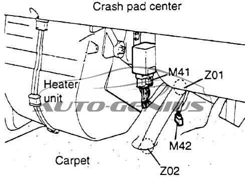 Hyundai Porter (AU) - fuse box diagram - wiper intermittent relay (M41)