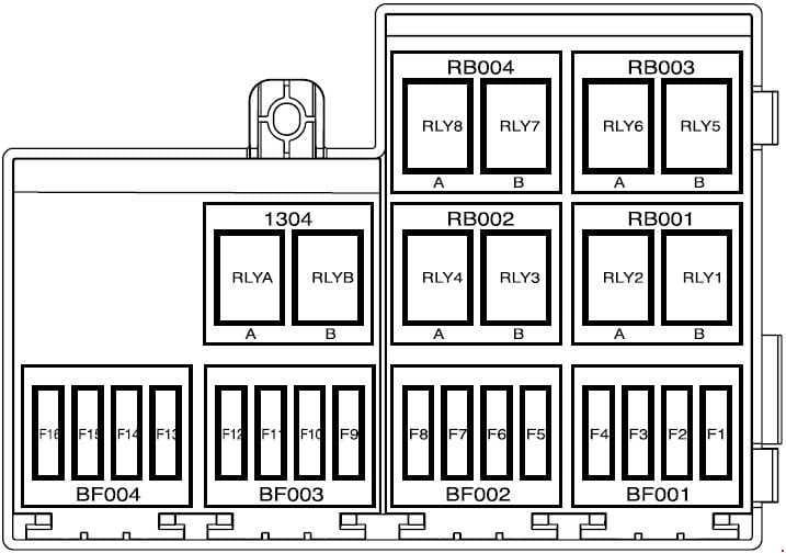 IKCO Samand Soren - fuse box diagram - engine compartment