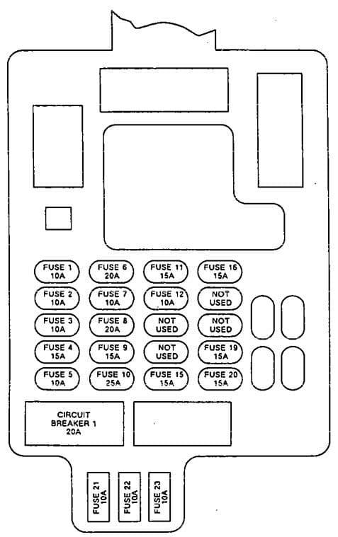 Isuzu Impulse - fuse box diagram - passenger compartment