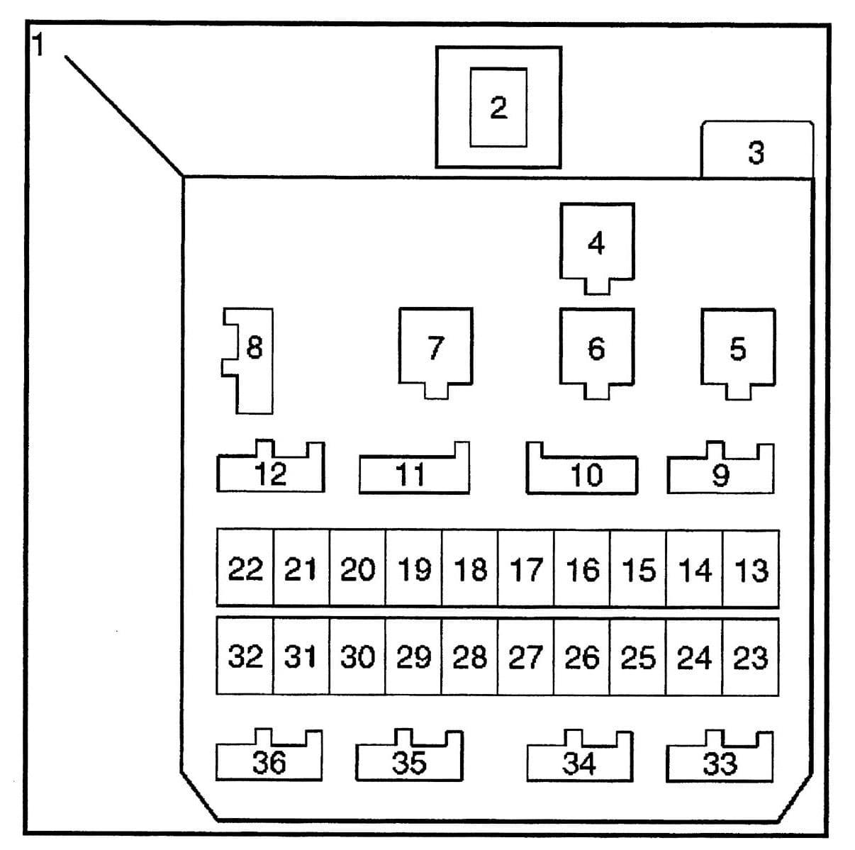Isuzu Trooper - fuse box diagram - dash