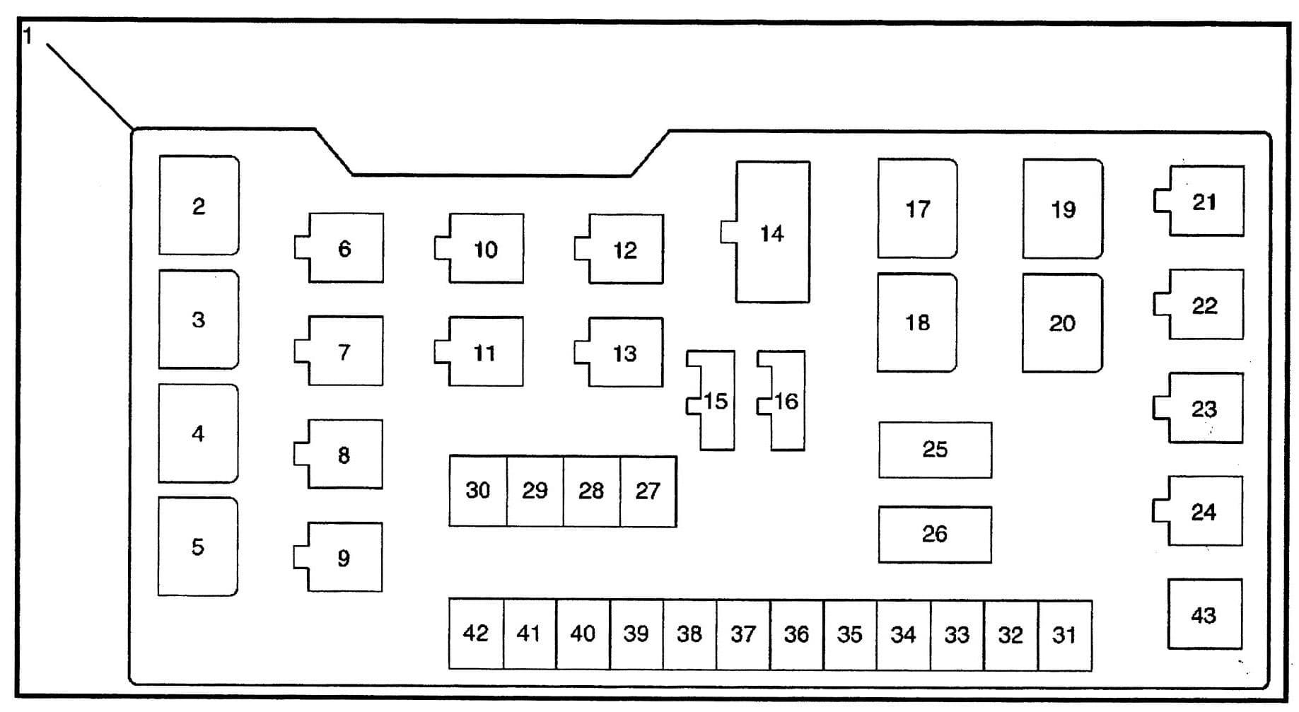 Isuzu Trooper - fuse box diagram - engine compartment