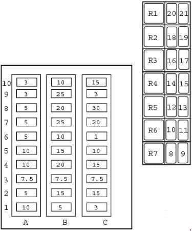 JCB 2CX - fuse box diagram