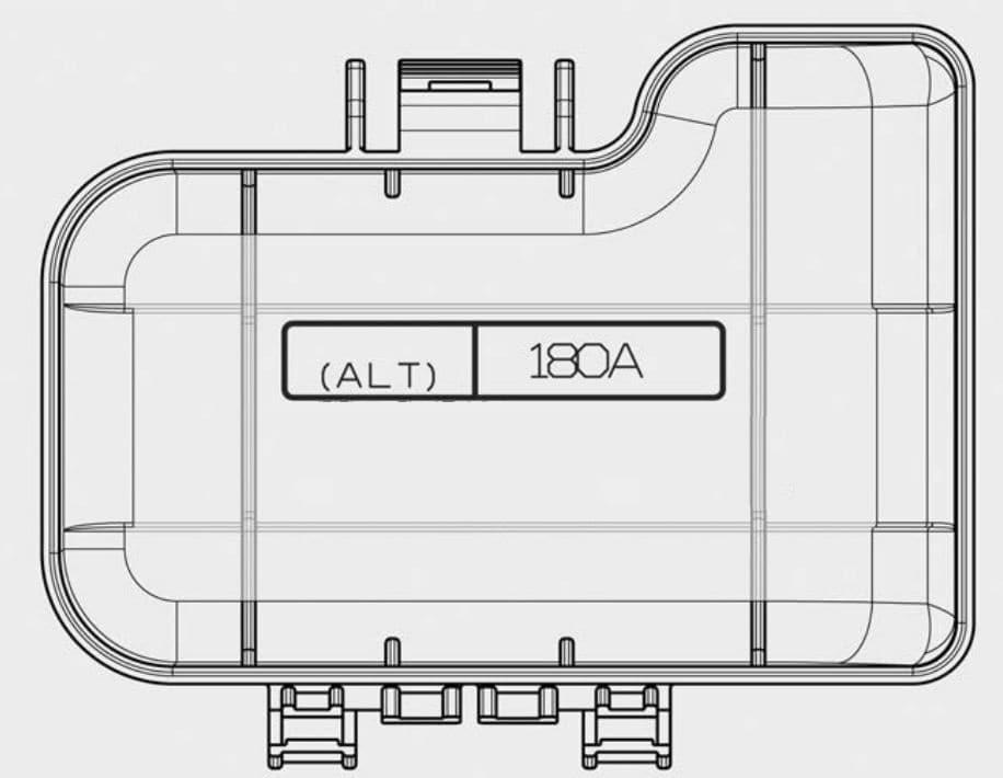 KIA Candeza - fuse box diagram - engine compartment (battery terminal cover)
