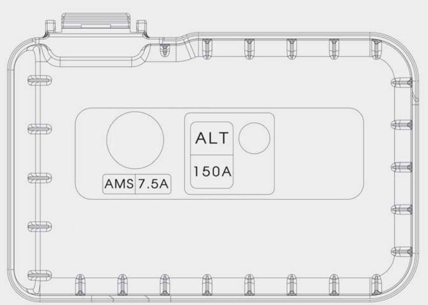 KIA Forte - fuse box diagram - engine compartment (battery terminal cover)