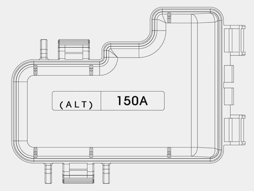 KIA Niro - fuse box diagram - battery terminal cover