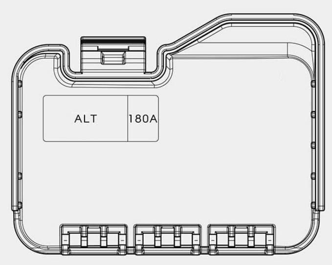 KIA Optima - fuse box diagram - engine compartment (battery terminal cover)