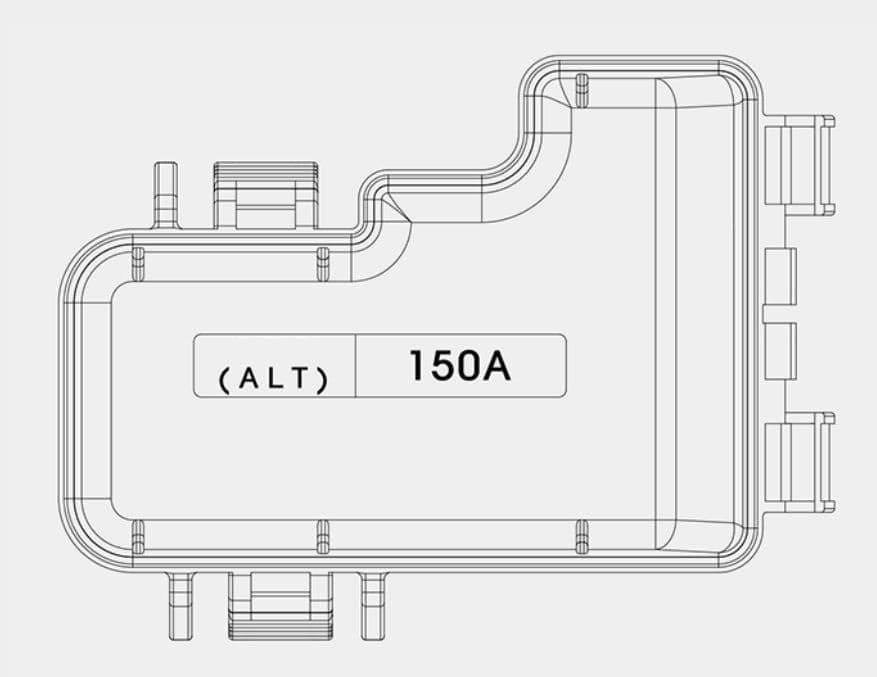KIA Optima PHEV - fuse box diagram - engine compartment (terminal cover)
