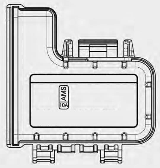 KIA Soul EV - fuse box diagram - motor compartment fuse panel (battery terminal cover)