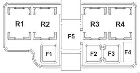 KIA Sportage3 (SL) - fuse box diagram - engine compartment (diesel)
