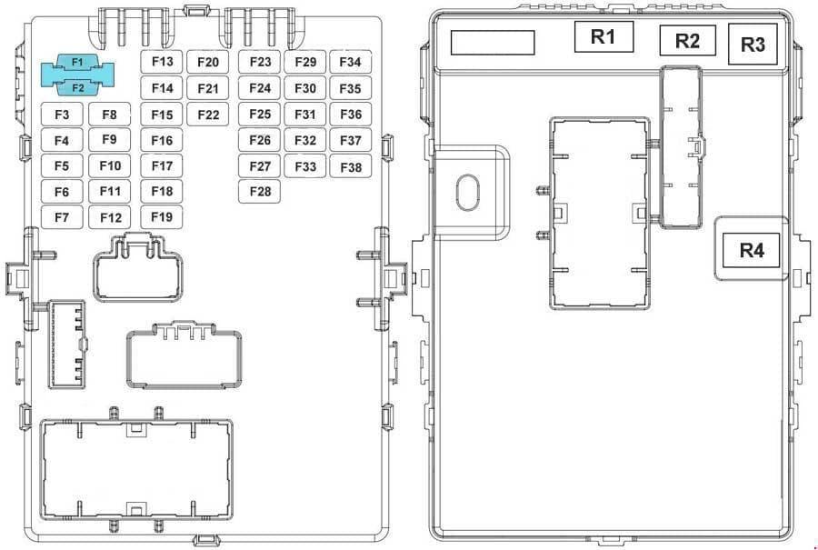 KIA Sportage3 (SL) - fuse box diagram - passenger compartment