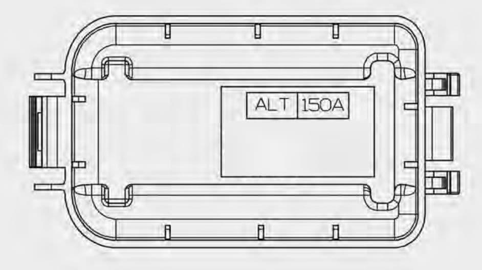 KIA Sportage - fuse box diagram - engine compartment