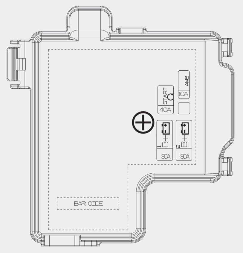 KIA Stinger - fuse box diagram - battery terminal cover