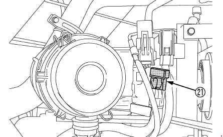 Kubota B3150, B3150SU - fuse box diagram - key stop fuse (CAB)