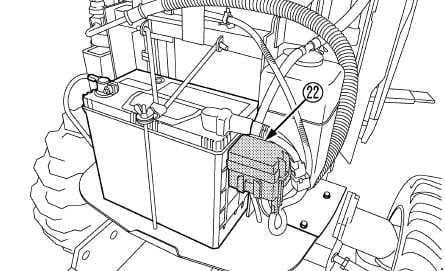 Kubota B3150, B3150SU - fuse box diagram - slow blow fuse - CAB