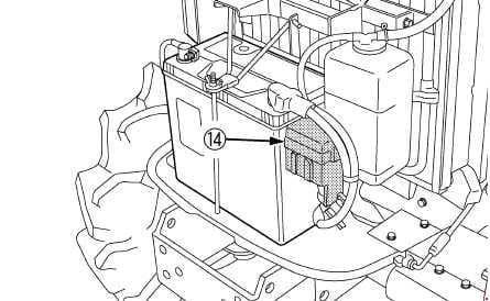 Kubota B3150, B3150SU - fuse box diagram - slow blow fuse - ROPS