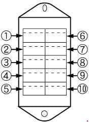 Kubota L3240, L3540, L4240, L5740 - fuse box diagram - ROPS