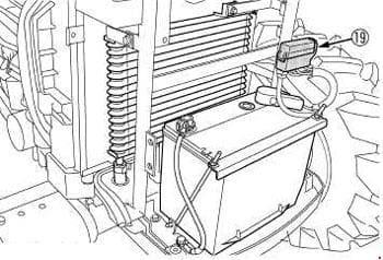 Kubota L3240, L3540, L4240, L5740 - fuse box diagram