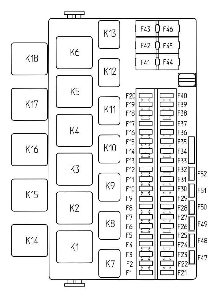 Lada Granta - fuse box diagram - passenger compartment