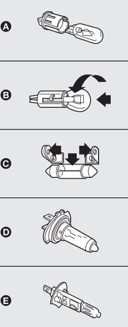 Lancia Ypsilon mk1 - bulbs