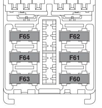 Lancia Ypsilon mk2 - fuse box - luggage compartment