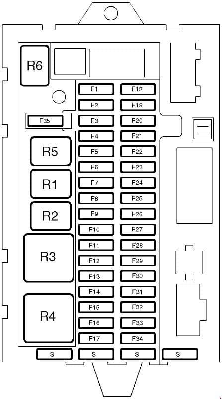 Land Rover Discover - fuse box diagram - main fuse box