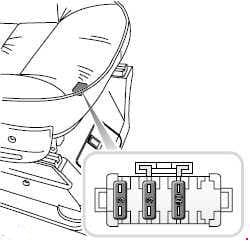 Land Rover Discover - fuse box diagram - under seat
