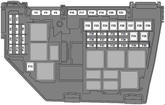 Land Rover Freelander (L359) - fuse box diagram - engine compartment