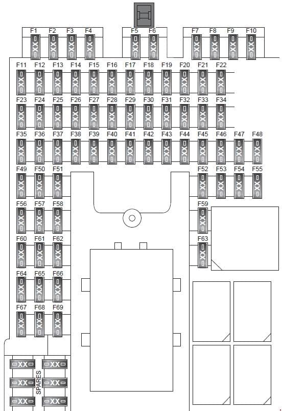 Land Rover Freelander (L359) - fuse box diagram - passenger compartment