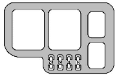 Lexus ES - fuse box - engine compartment