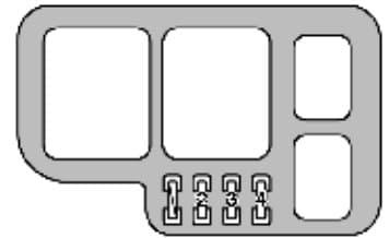 Lexus ES300 - fuse box - engine compartment