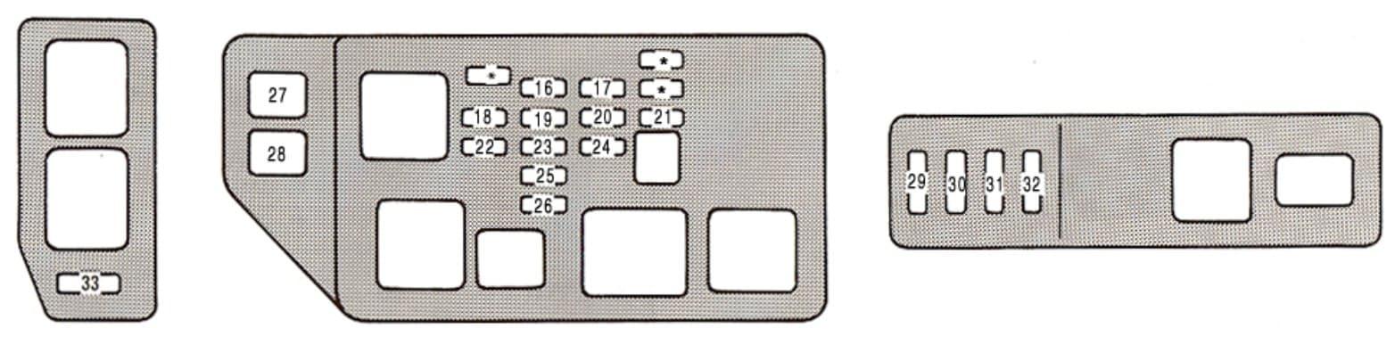Lexus ES300 - fuse box - engine compartment (Canada)