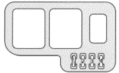 Lexus ES300 - fuse box - engine compartment (Canada only)