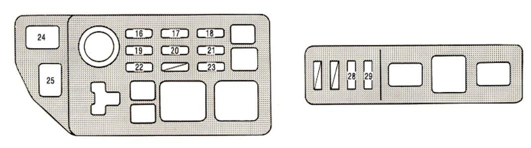 Lexus ES300 - fuse box - engine compartment (USA)