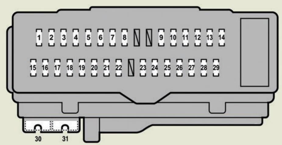 Lexus ES350 - fuse box -driver's side instrument panel