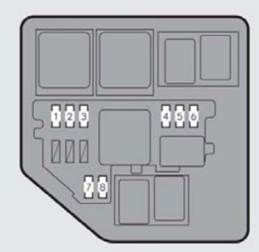 LLexus ES350 - fuse box - engine compartment (type B)