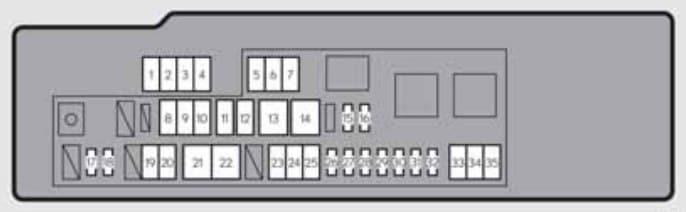 Lexus GS250 - fuse box - engine compartment (type A) - right-hand drive vehicles