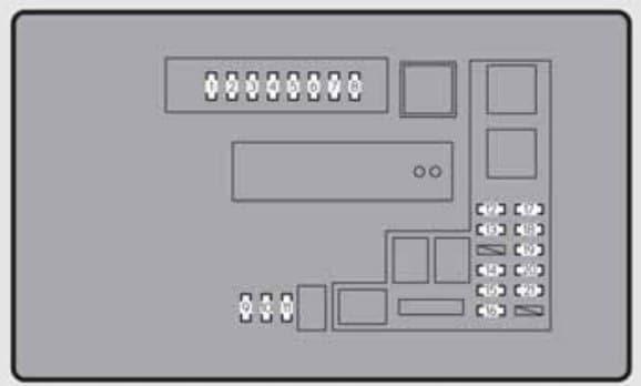 Lexus GS250 - fuse box - engine compartment (type B)