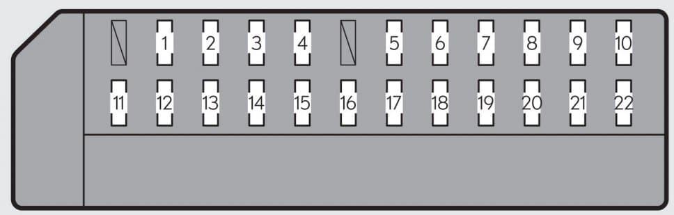 Lexus GS250 - fuse box - left side instrument panel (left-hand drive vehicle)