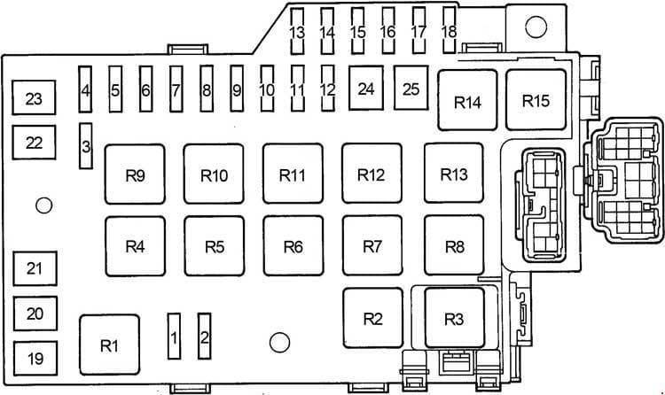 Lexus GS300 - fuse box diagram - engine compartment fuse box